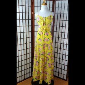 FLYING TOMATOE FLORAL LINED MAXI DRESS